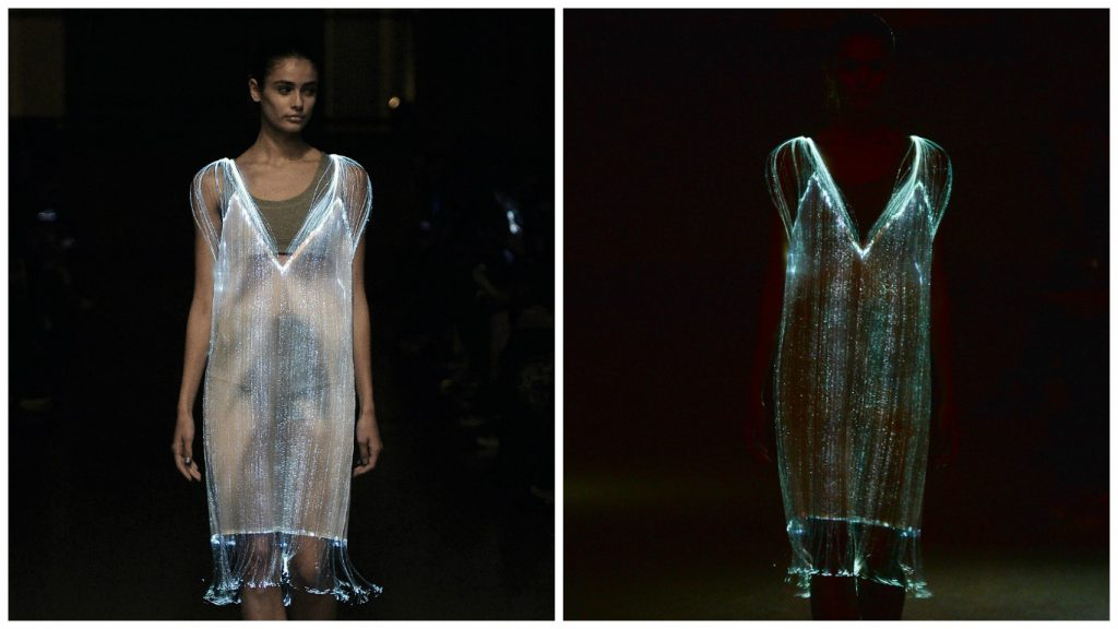 Tinkerbell inspired optic fibre dress [Image: fialondon]
