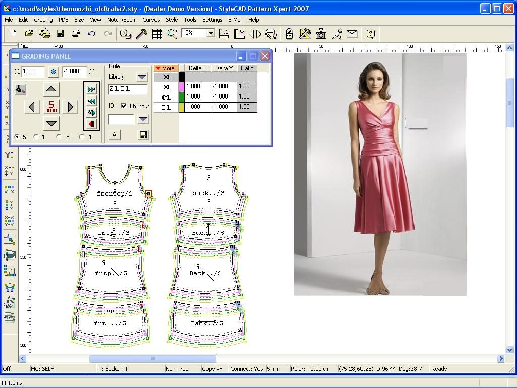Winfashion CAD Pattern making to cutting