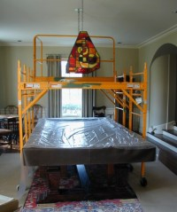 Custom Stained Glass Pool Table Light