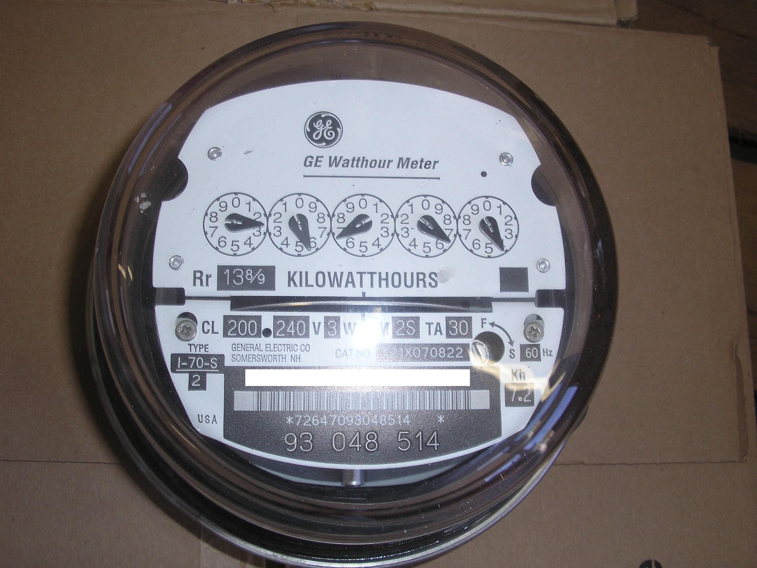watt hour meter wiring diagram for trailer brake controller schlumberger sangamo electric watthour kwh ez