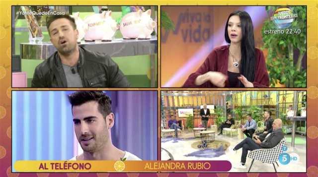 Alejandra Rubio calla, pero Lobo habla alto y claro