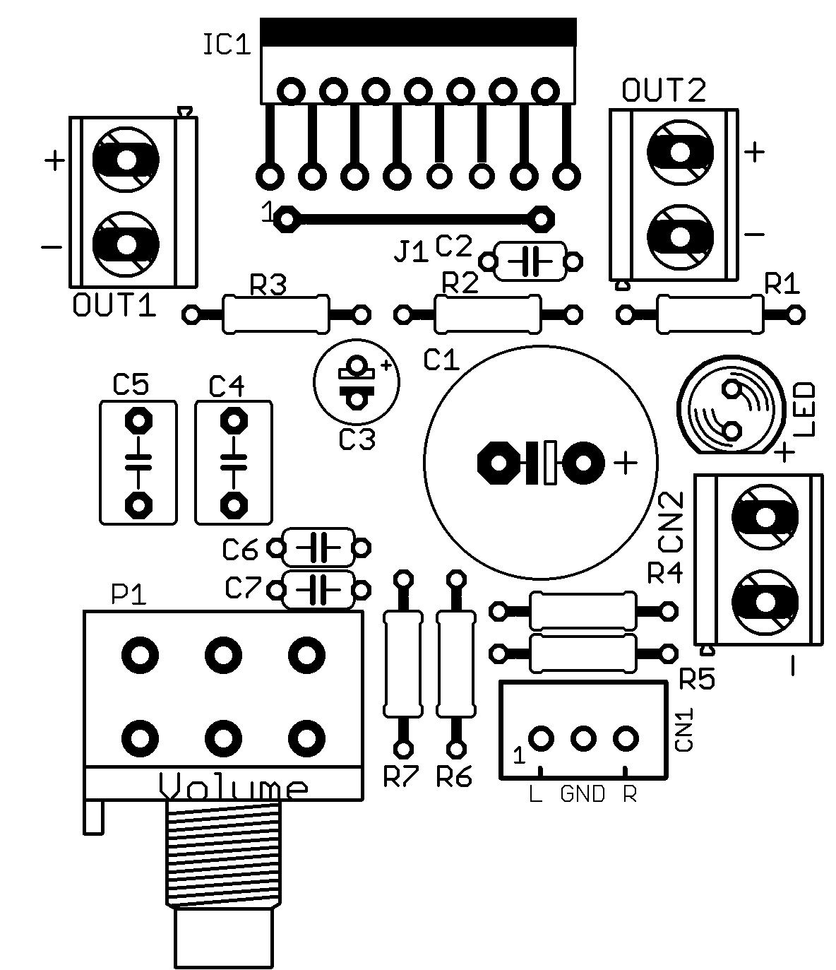 Amplificador Tda Circuito Impresora