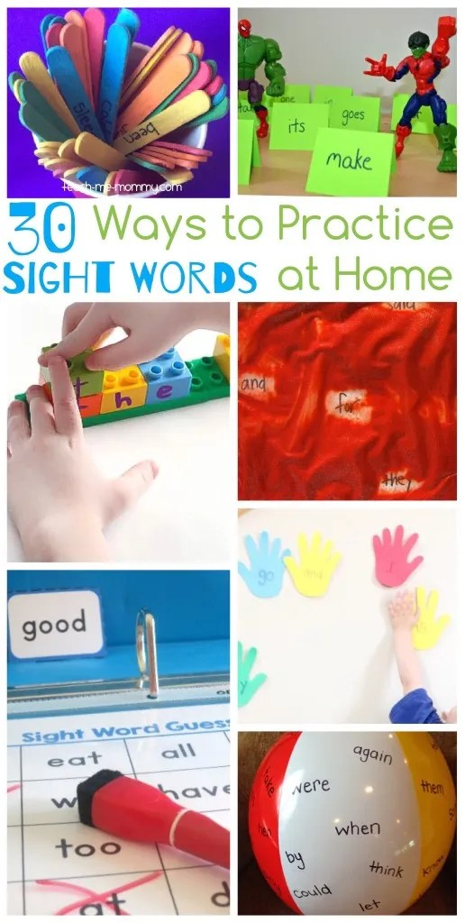 Ways to Practice Sight Words at Home  Teach Me Mommy