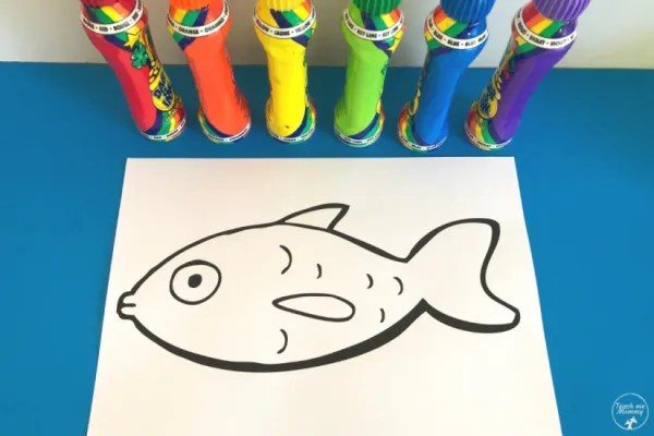 Indoor activities for kids: Rainbow Fish