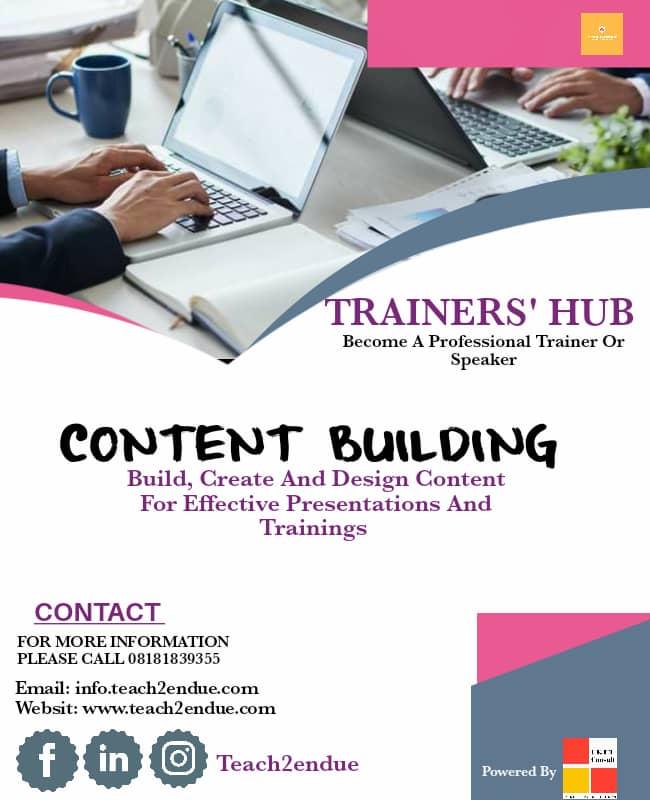 content building course