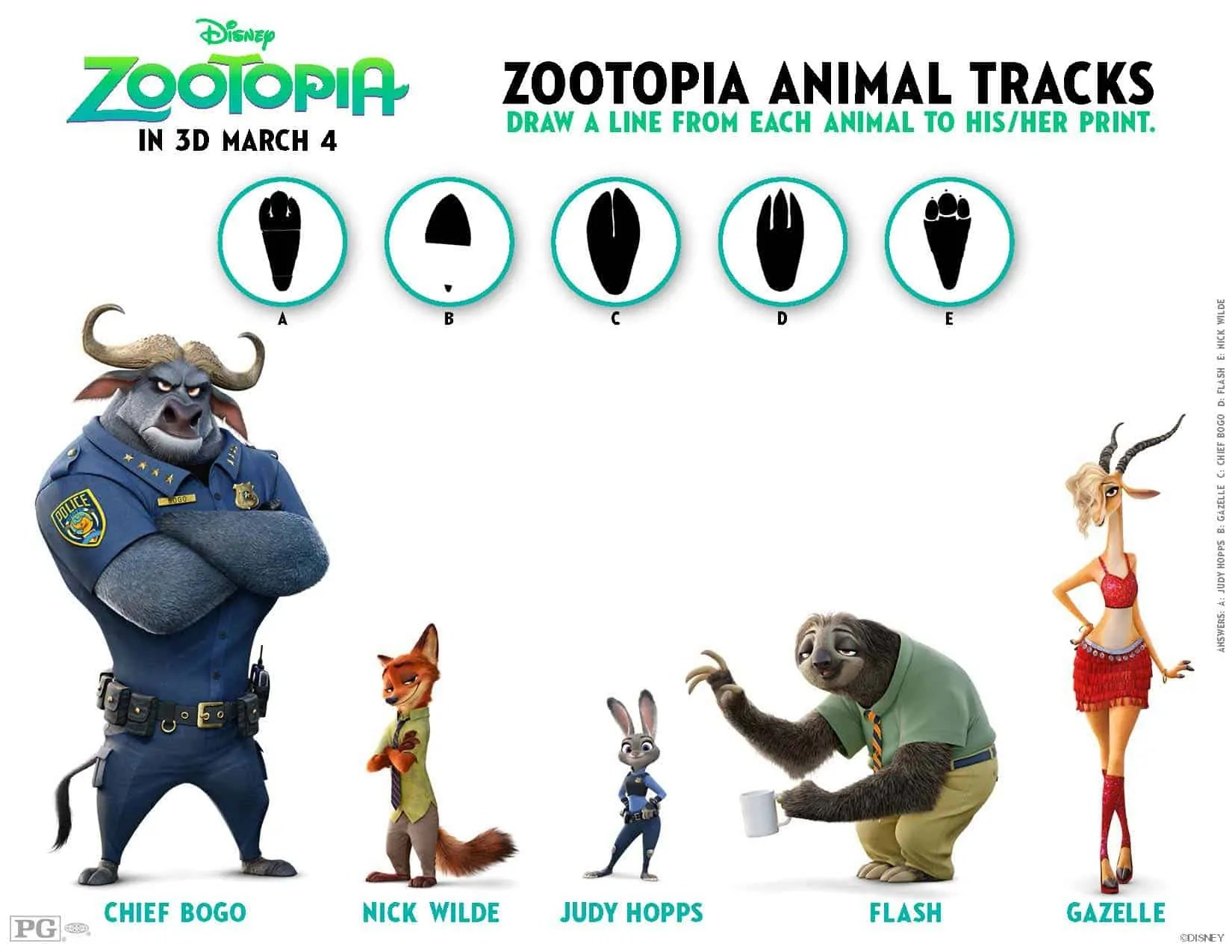 Free Zootopia Coloring Sheets