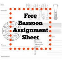 Free download - bassoon assignment sheet
