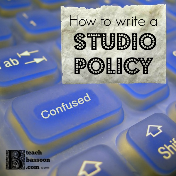 How to Write a Studio Policy