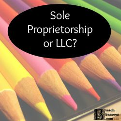 Is your music teaching business a sole proprietorship or more of an LLC?