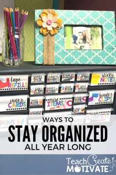 Stay organized all year with this adorable teacher toolbox! Editable labels for all of your needs!