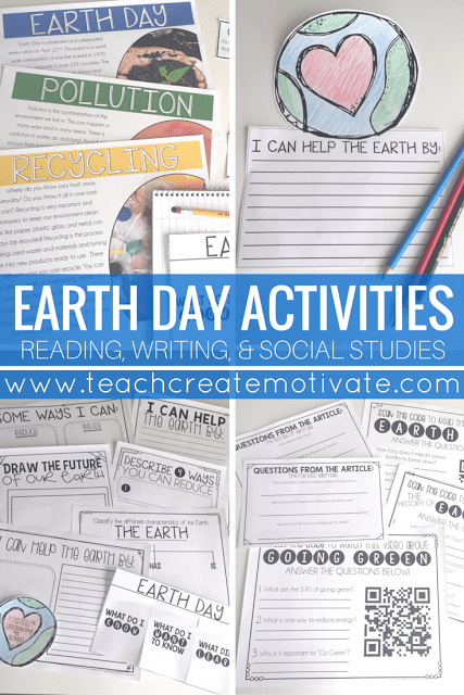 These are great activities to engage your students while learning all about Earth Day!
