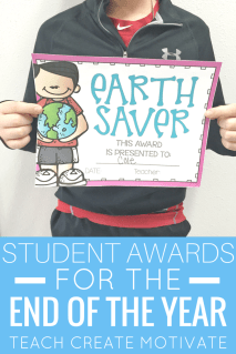 Make the end of the year fun with these cute and colorful student awards!