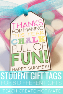 Gift tags for your student End of the Year gifts perfect for the Target Dollar Spot!
