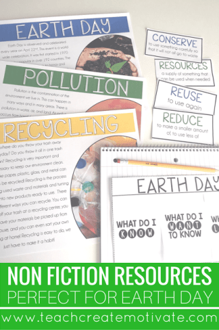 Perfect Non-fiction reading passages and vocabulary for Earth Day