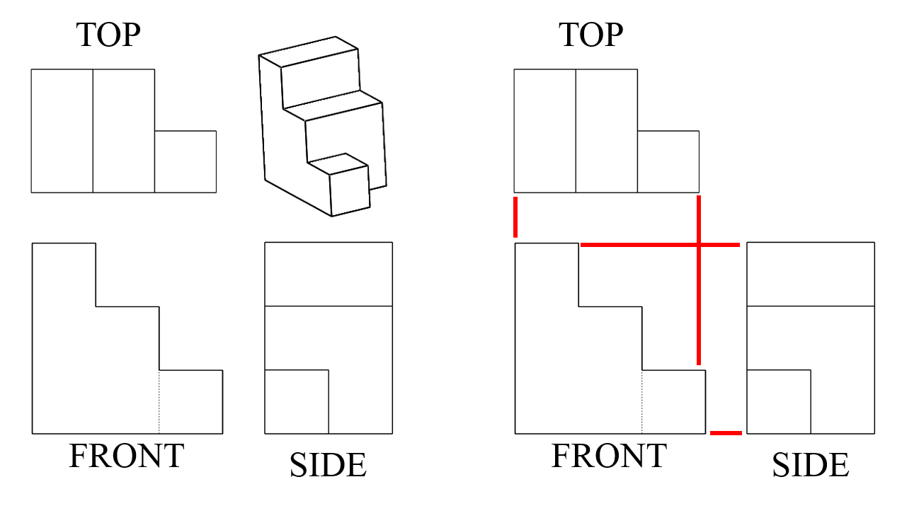 hight resolution of Seeing All Sides: Orthographic Drawing - Activity - TeachEngineering