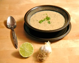 Cilantro Lime White Bean (Hummus) Soup