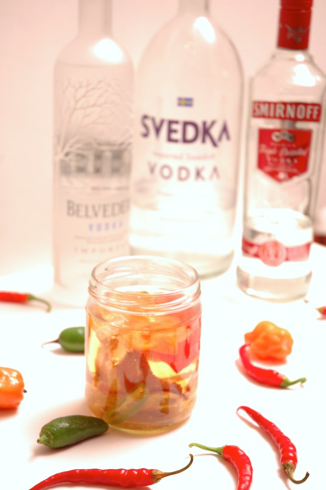 Habanero Infused Vodka - start this now so it is perfect for you cocktails this weekend!