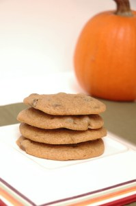 awesome pumpkin chocolate cookies