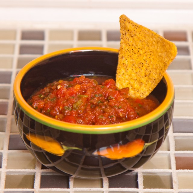 Salsa - from Canned Tomatoes (my personal favorite salsa which is so easy to make as well)