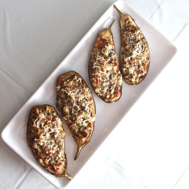 eggplant stuffed dinner platter