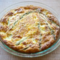 Crustless Asparagus & Cheese Quiche