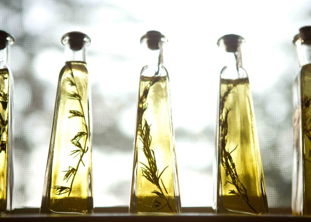 rosemary infused olive oil bottles