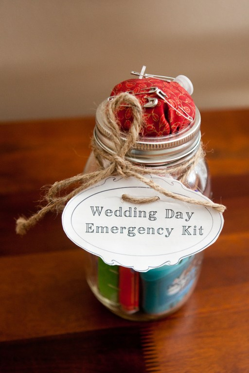 rustic bride wedding day survival kit