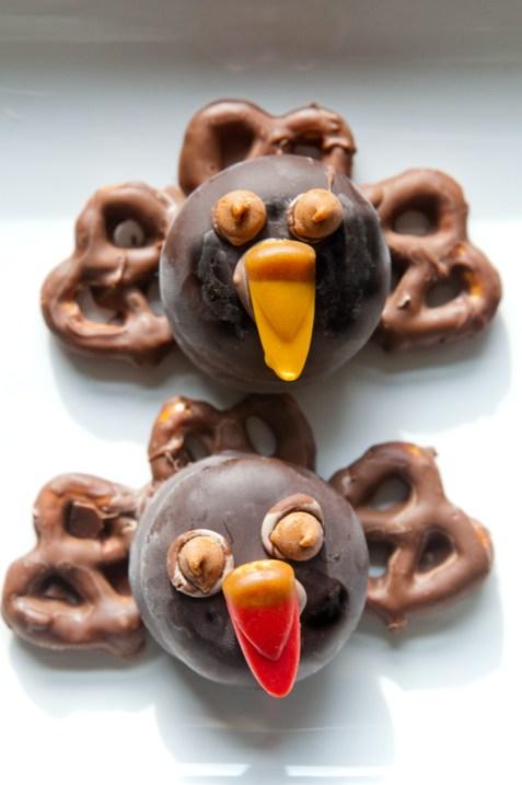 cute Thanksgiving Chocolate Turkeys