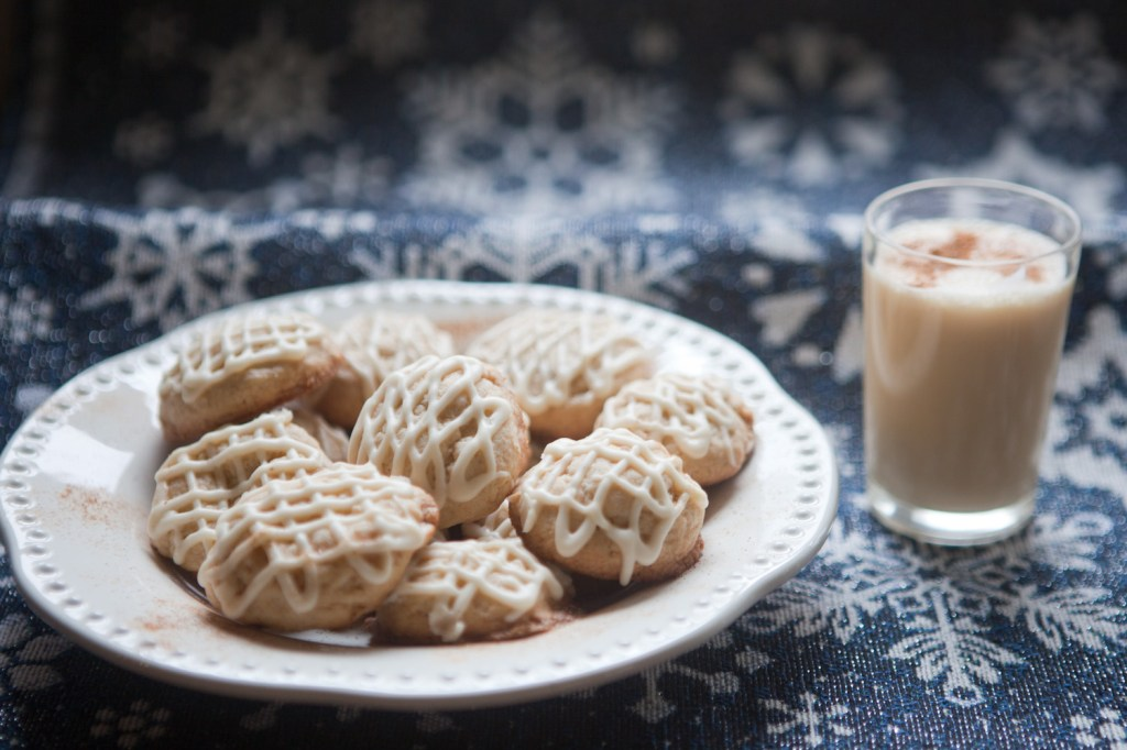 Eggnog Frosted Cookies