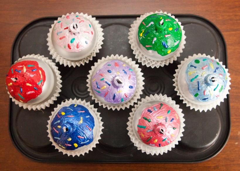 DIY Cupcake Ball Ornaments