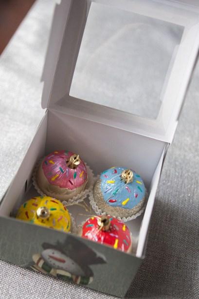Giftable DIY Cupcake Ornaments