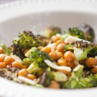 Roasted Broccoli and Chick Peas