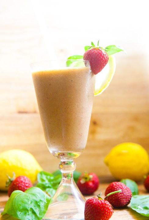 Strawberry Basil Frozen Lemonade - teacher-chef-5318