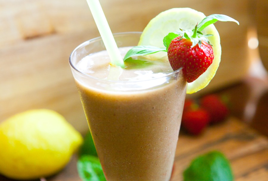 Strawberry Basil Frozen Lemonade - teacher-chef-5321