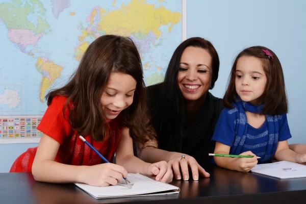 ESL Teacher Teaching Students