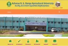 ANGRAU Teaching Associates Posts Notification 2018
