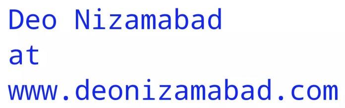 Deo Nizamabad at www.deonizamabad.com