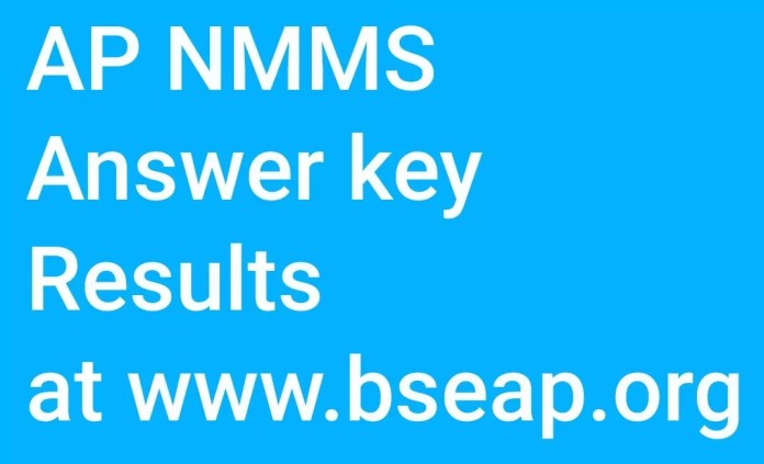 AP NMMS Answer key Results at www.bseap.org