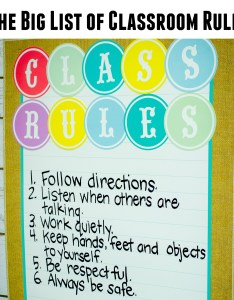 also list of classroom rules rh teachercreated