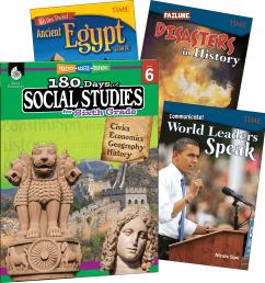 Learn-at-Home: Social Studies Bundle Grade 6: 4-Book Set   Teacher Created  Materials Parents [ 1200 x 1144 Pixel ]