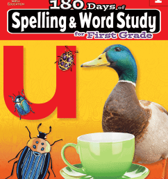 180 Days of Spelling and Word Study for First Grade   Teacher Created  Materials [ 1200 x 927 Pixel ]