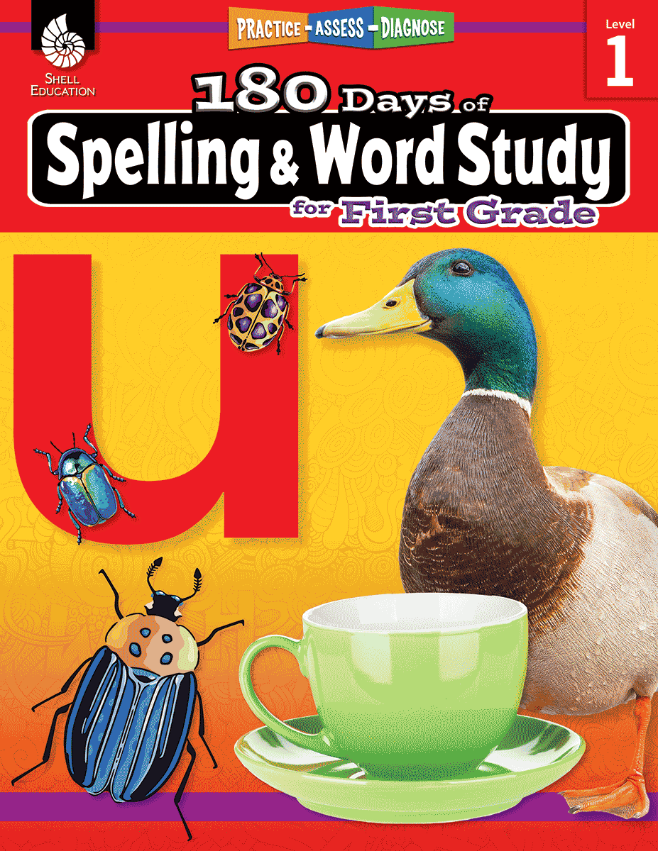 hight resolution of 180 Days of Spelling and Word Study for First Grade   Teacher Created  Materials