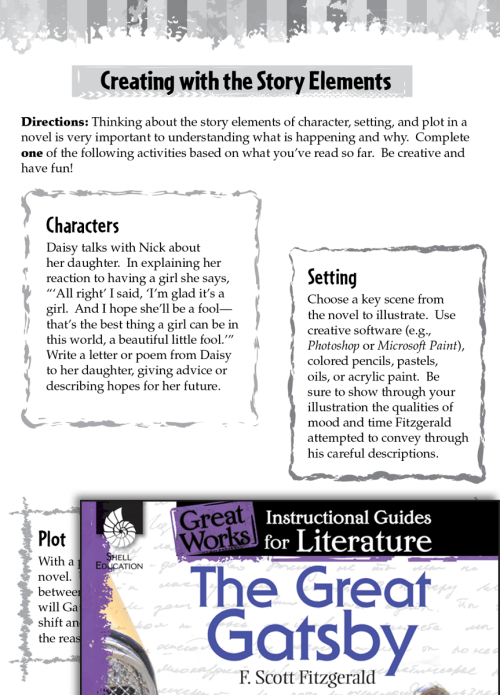 small resolution of The Great Gatsby Studying the Story Elements   Teacher Created Materials