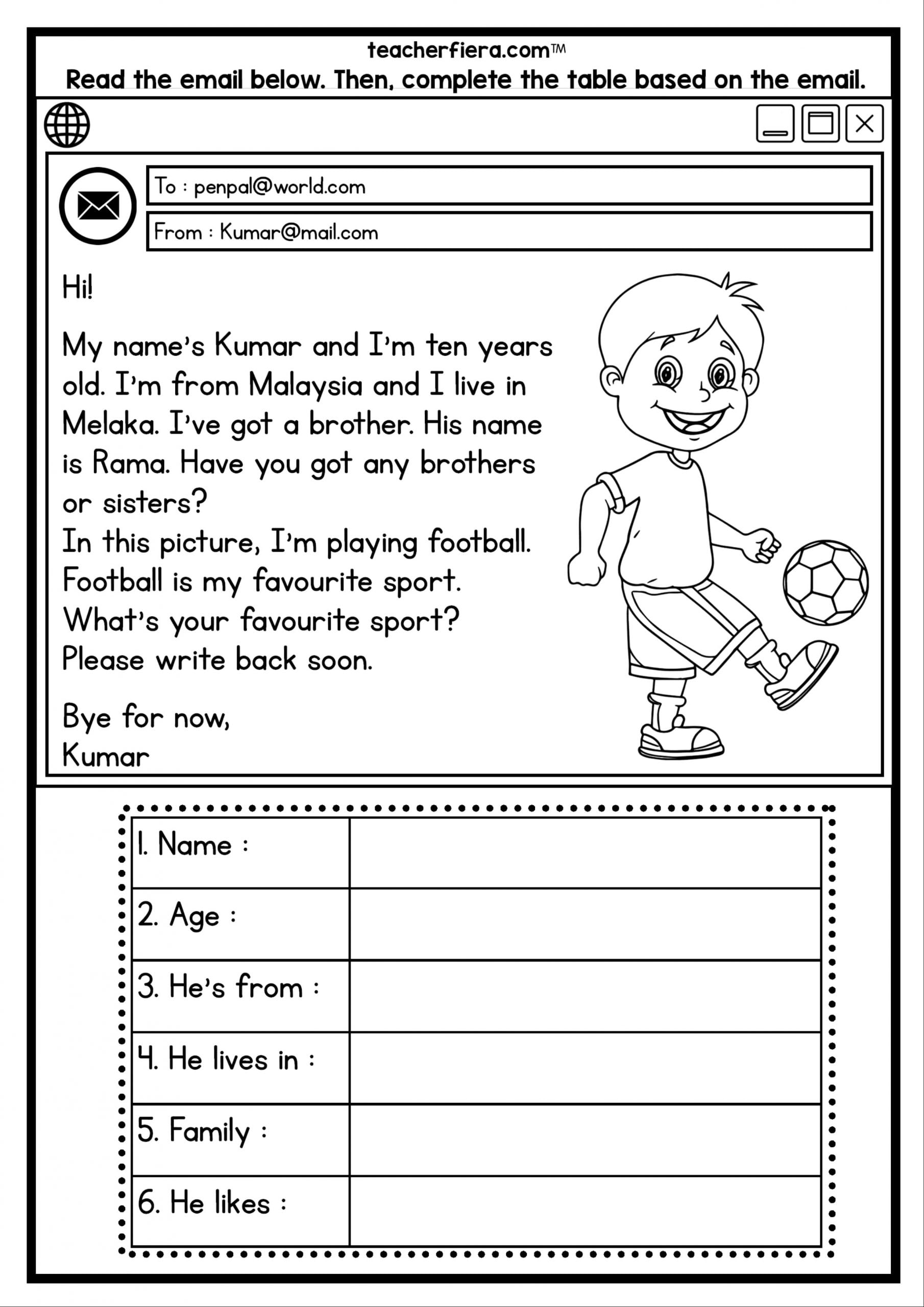 One Year Old Worksheet