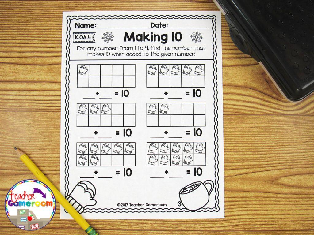 Kindergarten Winter Math Packet 22