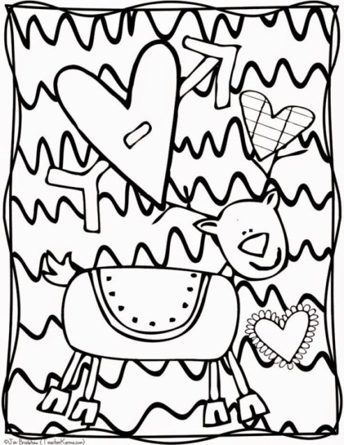 2:00 PM Time for recess Coloring Page - Twisty Noodle | 640x494