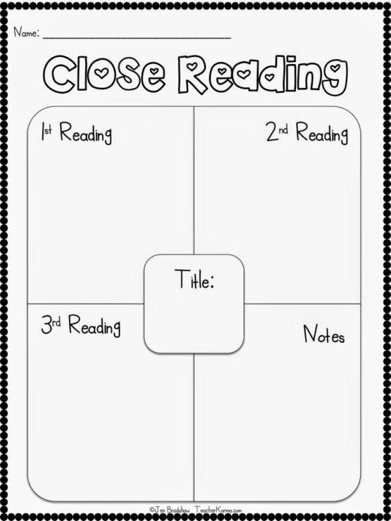 CLOSE Reading ~ FREE Resources — Teacher KARMA