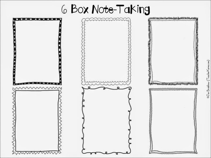 FREE: 6 Box Note-Taking Strategy and Handouts! Works with