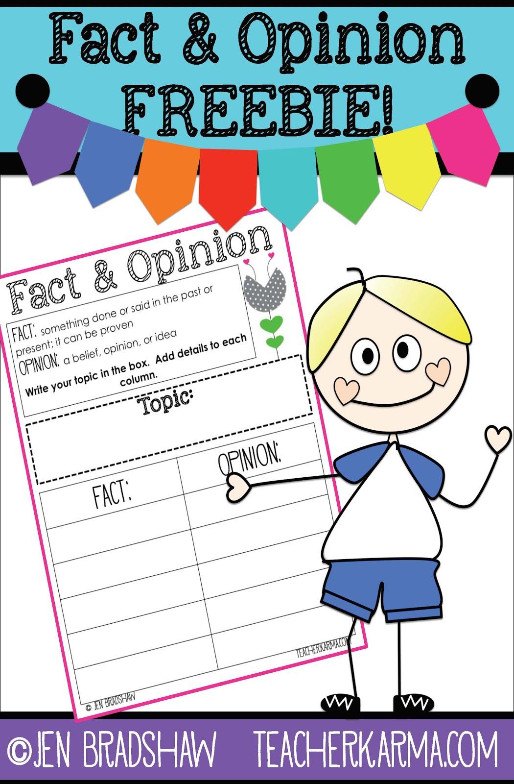 FREE Resources for Fact \u0026 Opinion — Teacher KARMA [ 1600 x 1050 Pixel ]