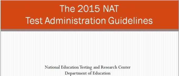 National Achievement Test (NAT) Administration Guidelines